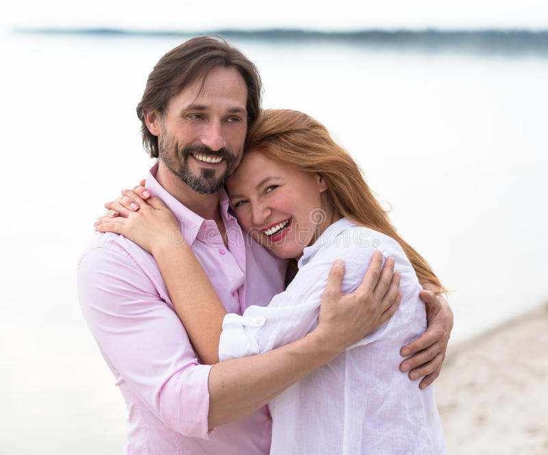 Middle-aged couple stock photo