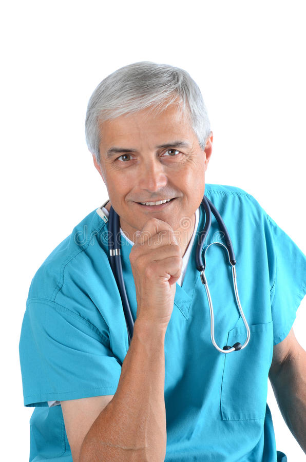 Download Middle Aged Doctor stock photo. Image of isolated, hospital - 24596508