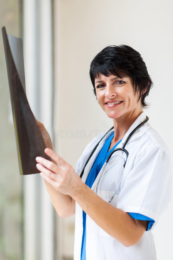 Middle Aged Doctor Royalty Free Stock Images