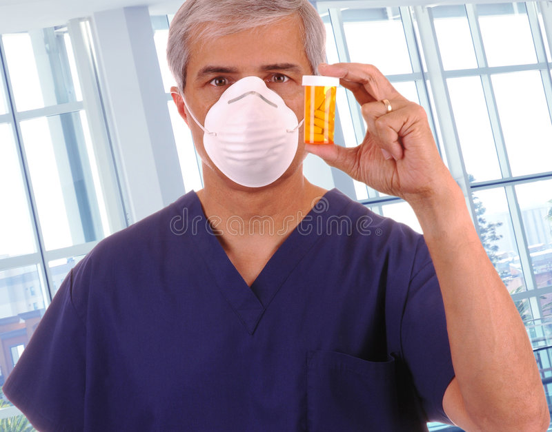 Download Middle Aged Doctor Holding Up Prescription Stock Image - Image: 8322749
