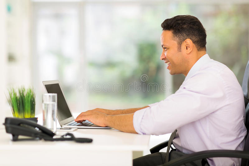Middle aged entrepreneur royalty free stock image