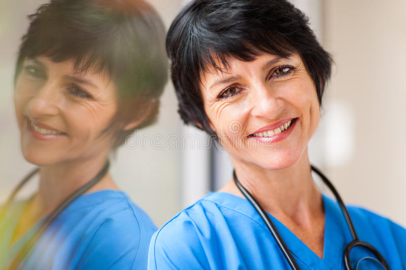 Middle aged healthcare royalty free stock photography