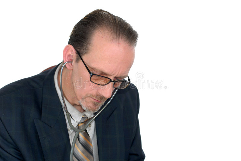 Middle aged male doctor royalty free stock image