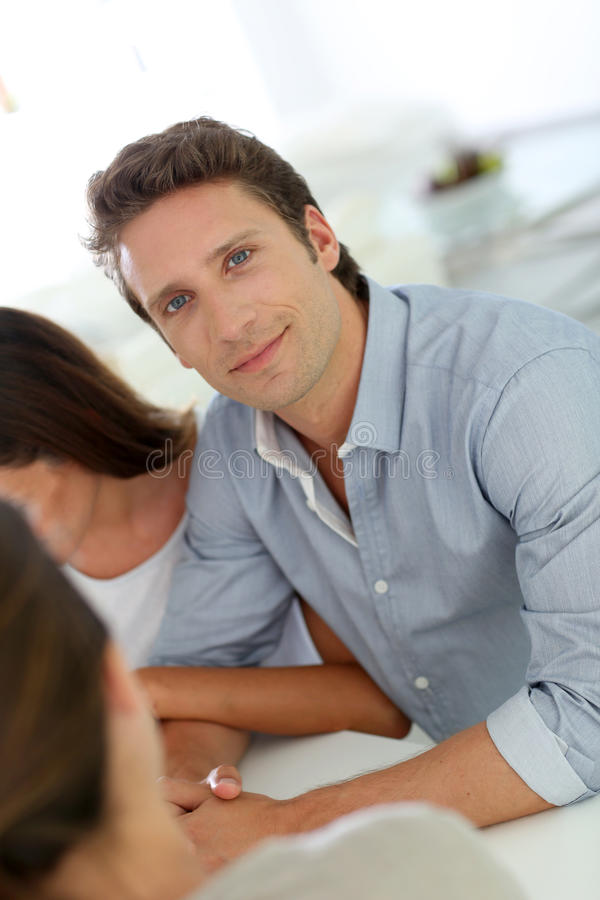 Download Middle-aged Man Looking At Camera Stock Photo - Image: 30598128
