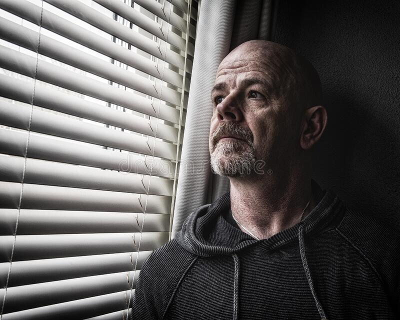 Adult Male Falling into Depression stock photography