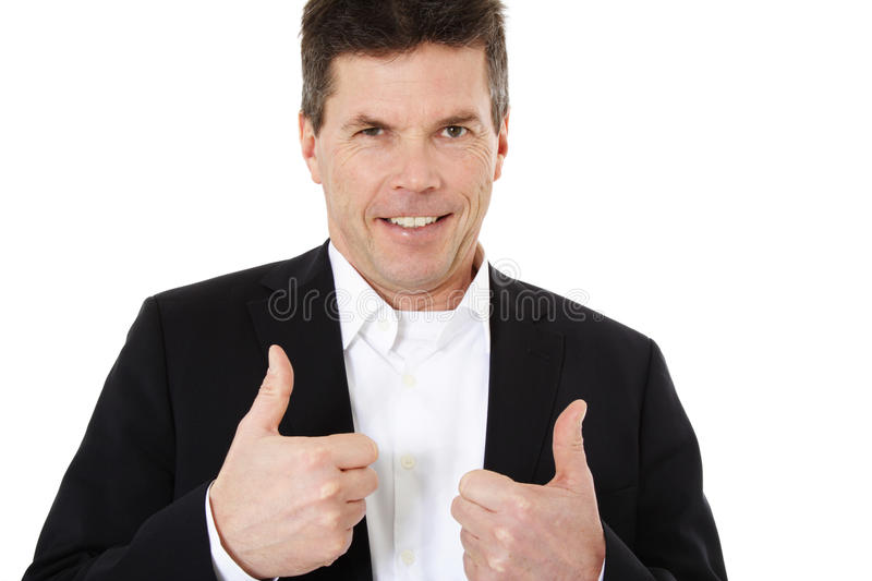 Download Middle Aged Man Showing Thumbs Up Stock Image - Image: 19923301