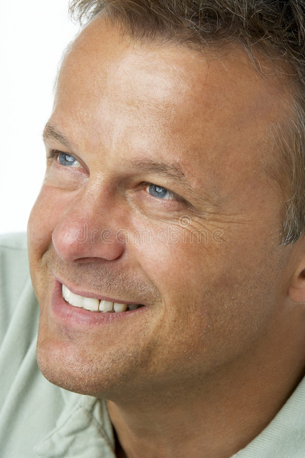 Middle Aged Man Smiling Royalty Free Stock Photography