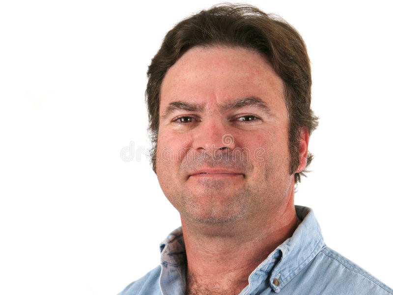 Middle aged man smling royalty free stock photos