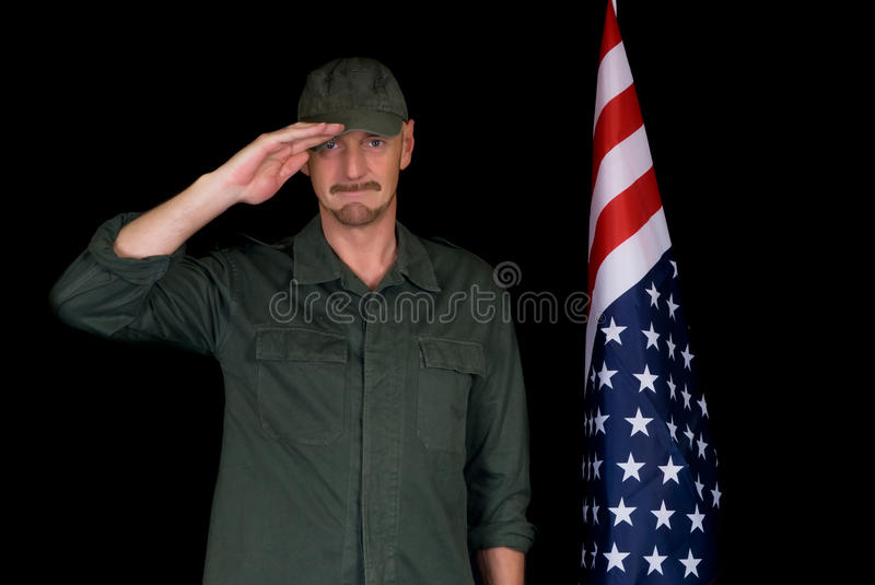 Middle aged man, soldier royalty free stock image
