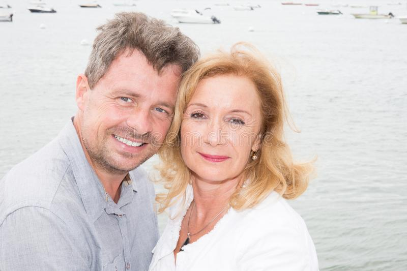 middle aged mature portrait happy couple royalty free stock images