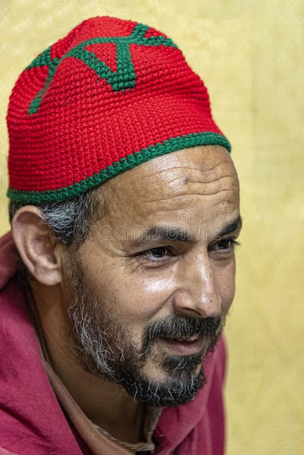 Middle aged Moroccan Man - portrait royalty free stock photography