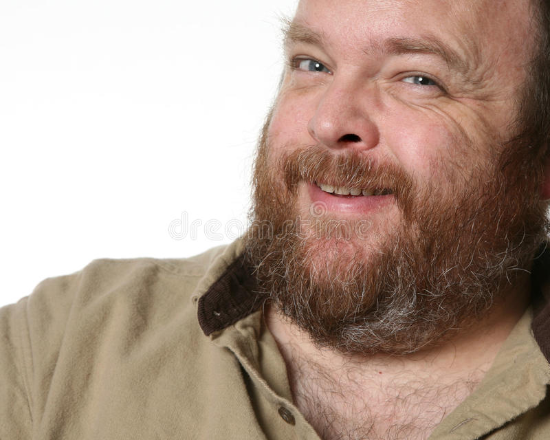 Middle Aged Obese Man Stock Photography