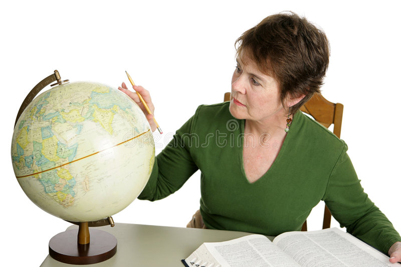 Middle Aged Student stock photography