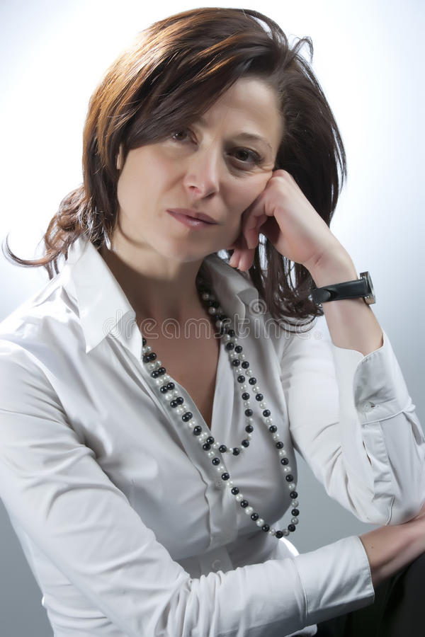Middle-aged woman stock photos