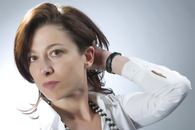 Middle-aged woman stock image