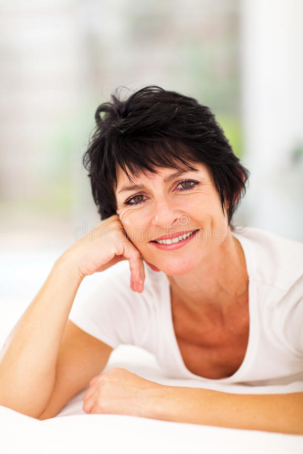 Download Middle aged woman stock photo. Image of fresh, home, hair - 29320040