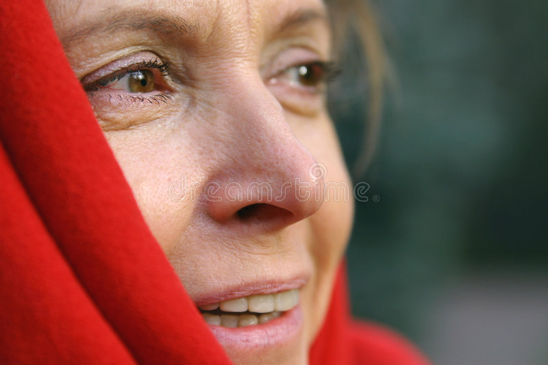 Download Middle aged woman stock photo. Image of blanket, older - 472176