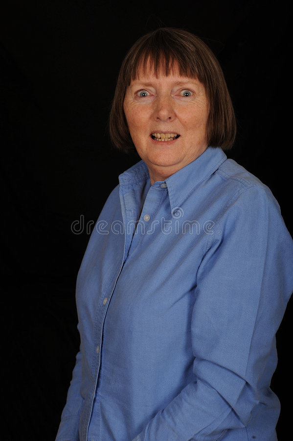 Middle-aged woman royalty free stock image