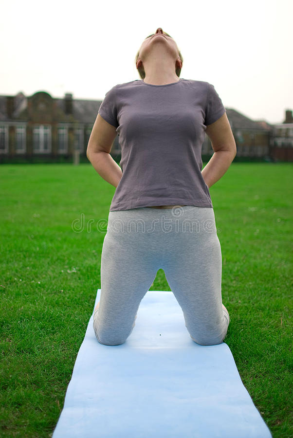 Download Middle Aged Woman Exercising Stock Photo - Image: 25606972