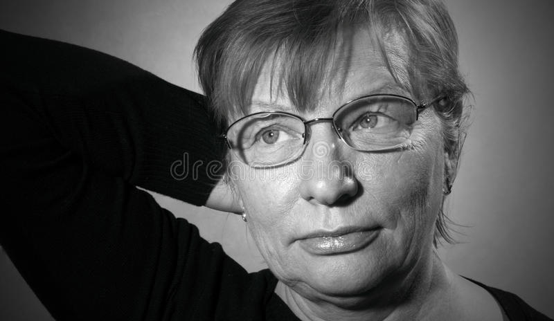 Middle Aged Woman In Eyeglasses Royalty Free Stock Images