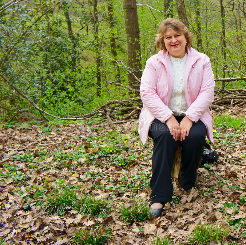 Free Middle-aged Woman In A Park Stock Photos - 24596483