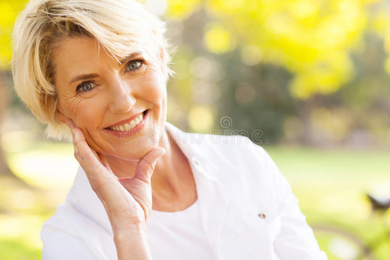 Middle aged woman royalty free stock photos