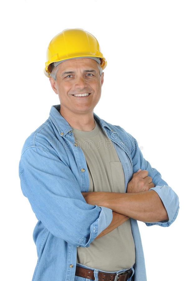 Download Middle Aged Worker With His Arms Crossed Royalty Free Stock Images - Image: 14716289