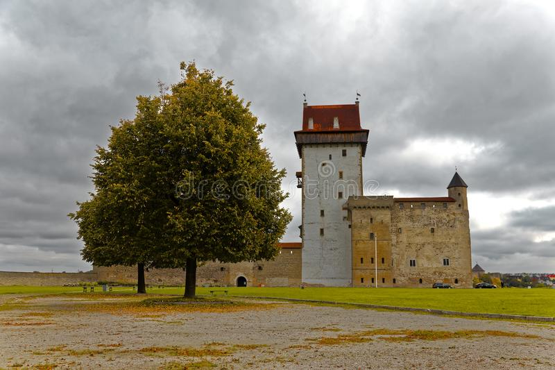 Middle ages Hermann castle in Narva, Estonia. Middle ages Hermann castle in Narva, Estonia stock photography