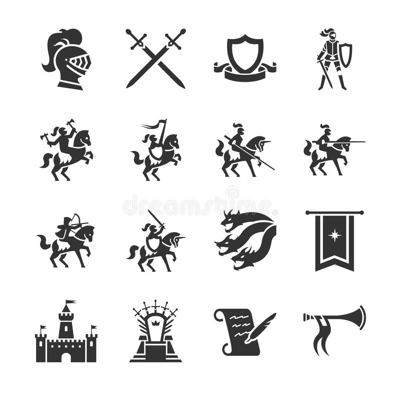 The middle ages icon. Flat Design Illustration: The middle ages icon royalty free illustration