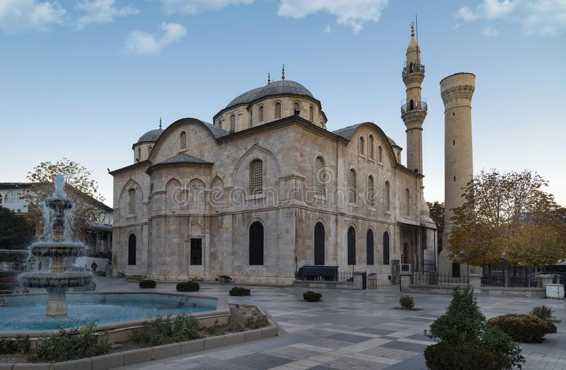 Yeni Mosque view in Malatya City. Yeni Mosque is populer tourist attraction in Malatya City. stock photography