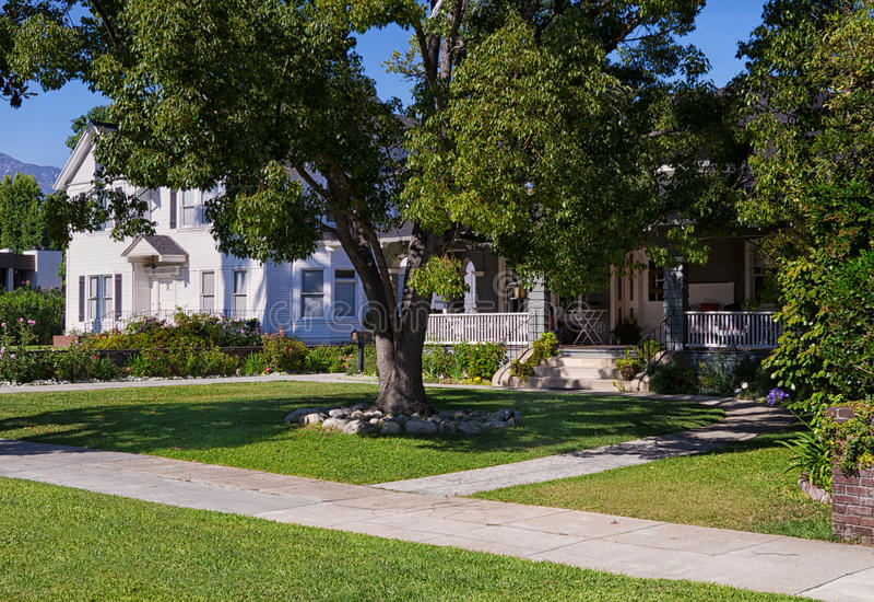Middle-class Neighborhood royalty free stock photography
