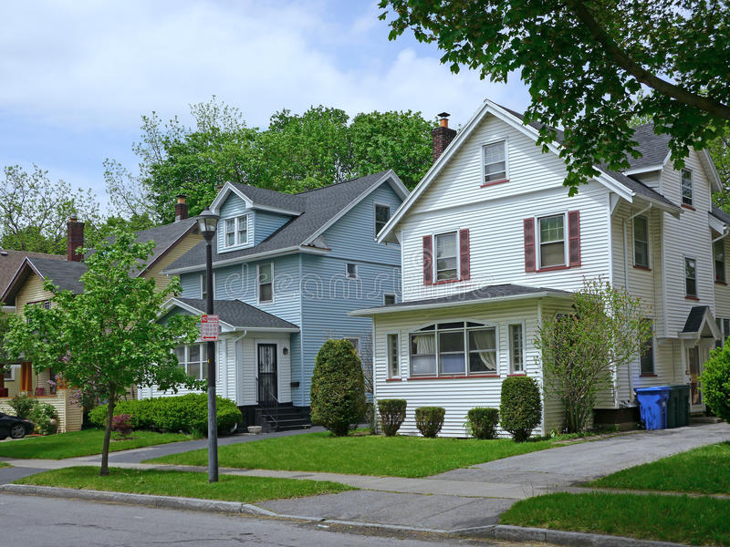 Middle class suburban house royalty free stock photo