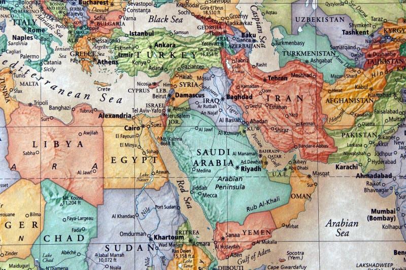 Middle east. Map of middle east libya, egypt, yemen