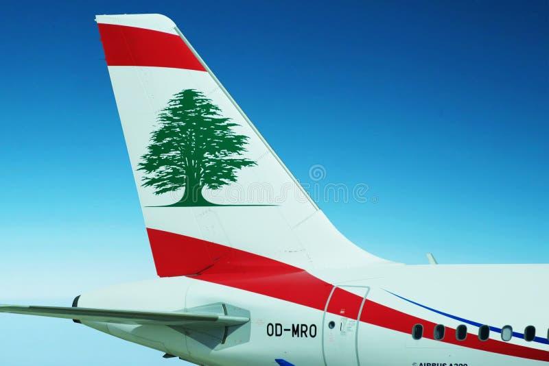 Middle East Airlines - Lotniczy Libanu samolot zdjęcia stock