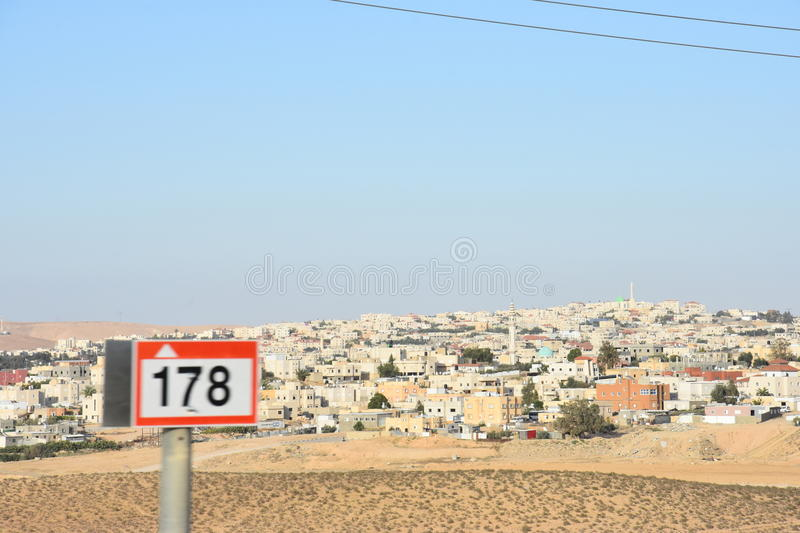 Middle East- Arara in the Negev, Israel. May 11, royalty free stock image