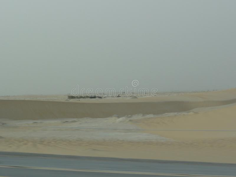 The middle east freeway in the desert royalty free stock image