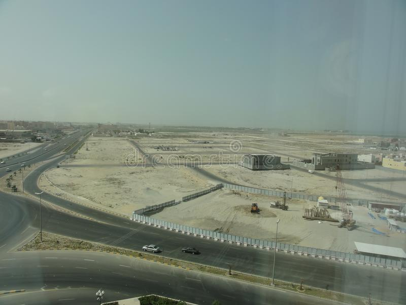 The middle east freeway in the desert royalty free stock photo