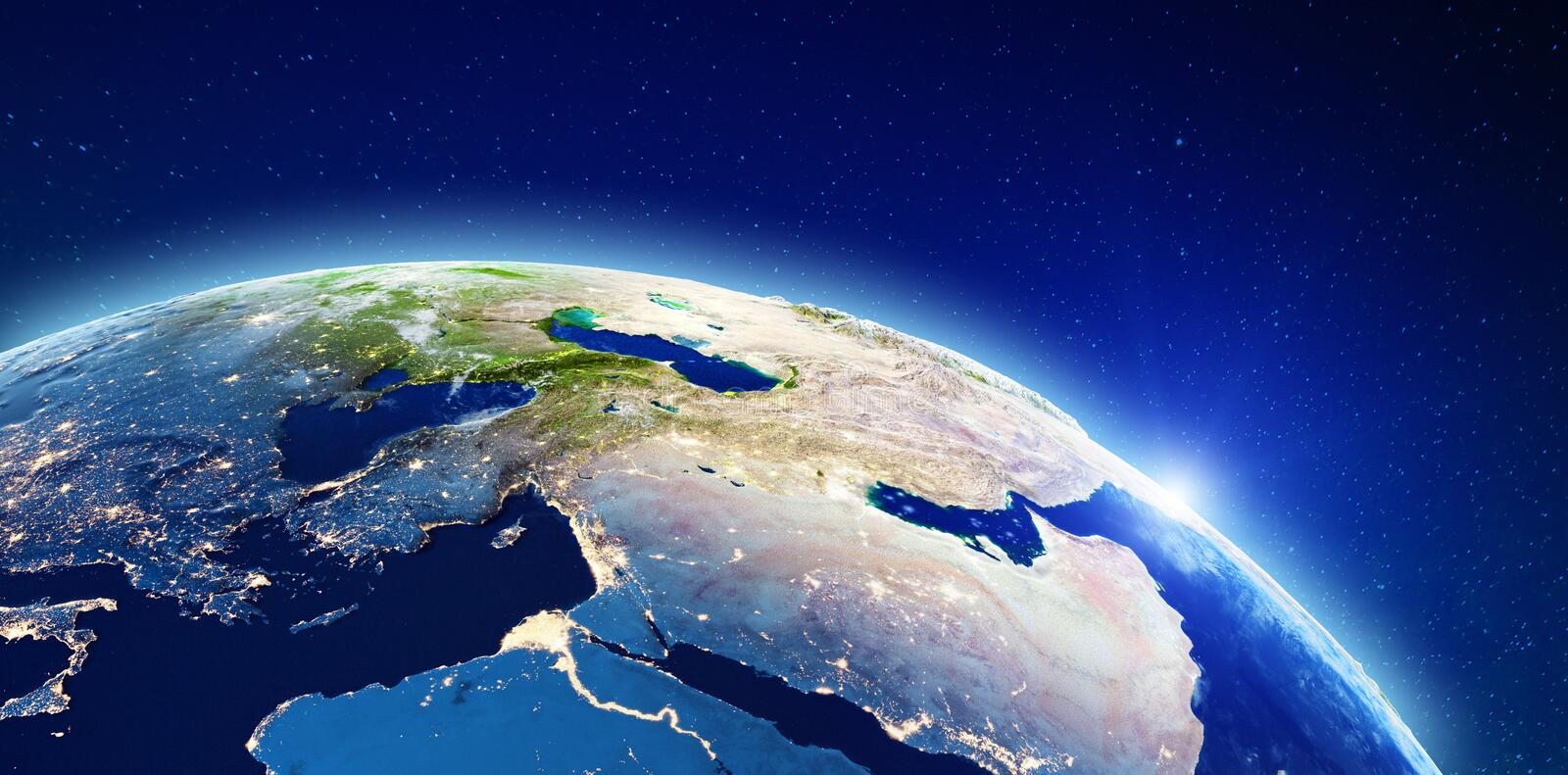 Middle East and Mediterranean royalty free stock image