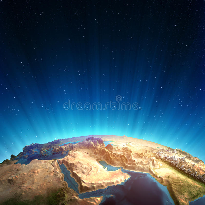 Middle east real relief royalty free illustration