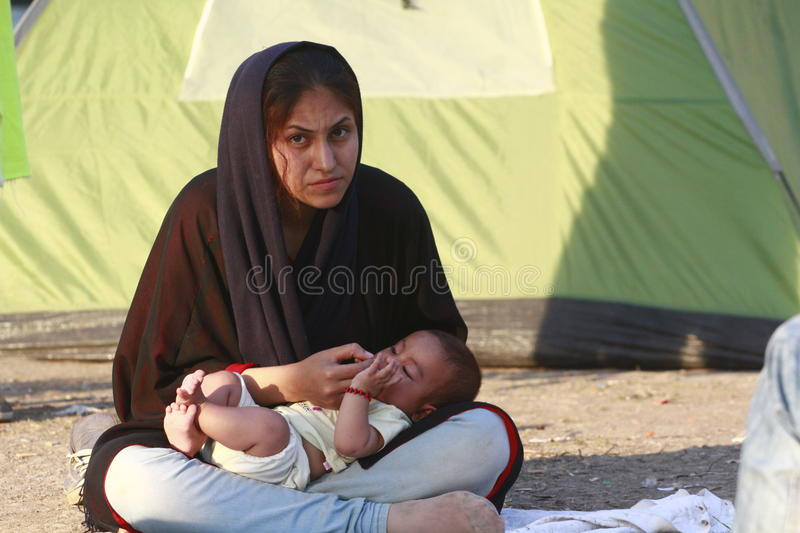 Middle East Refugees royalty free stock image