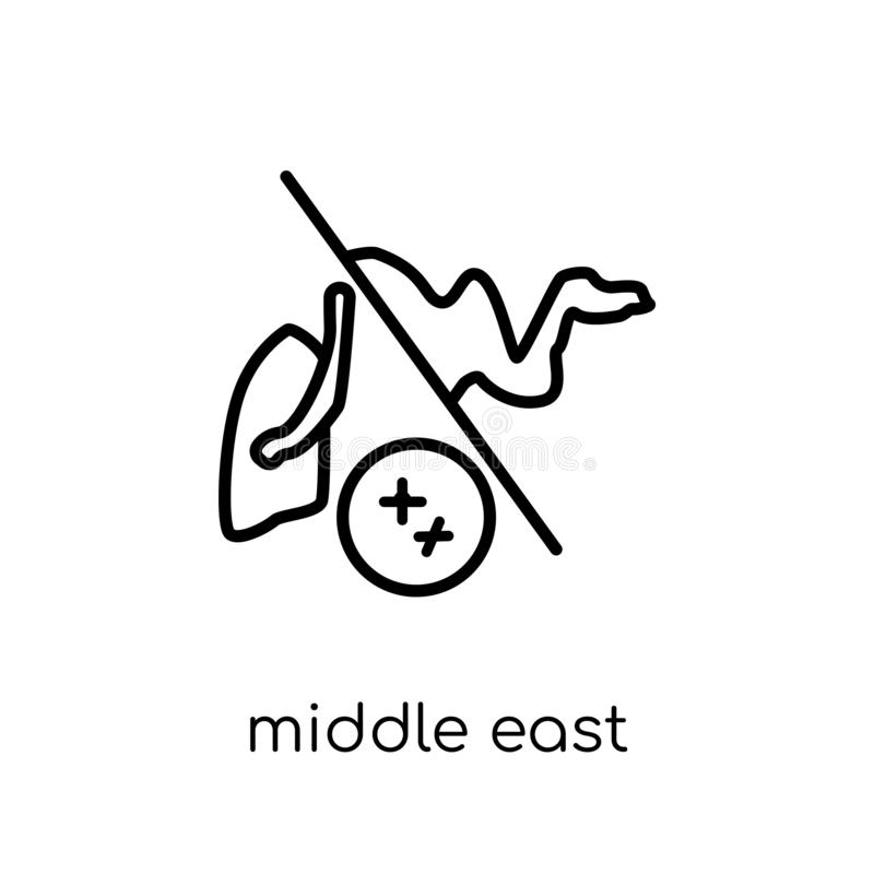middle east respiratory syndrome (mers) icon. Trendy modern flat royalty free illustration