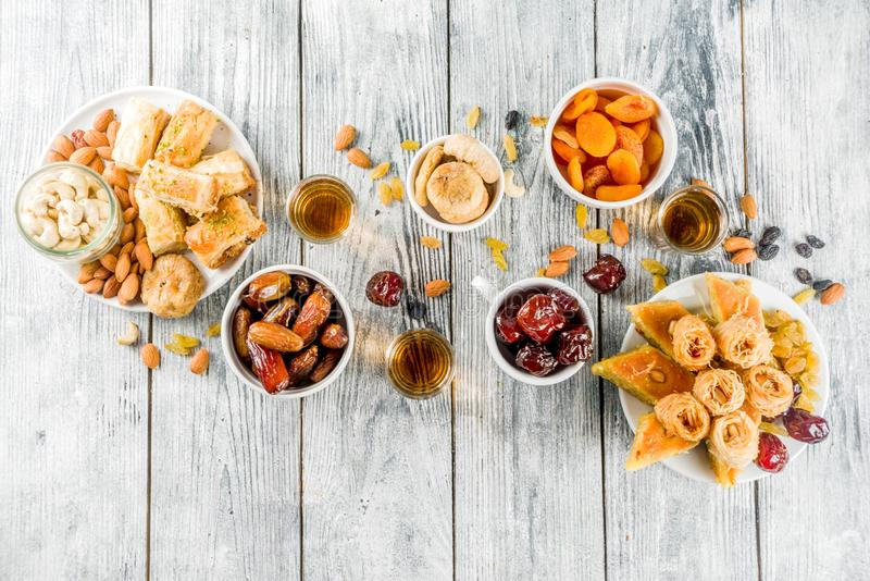 Middle Eastern Arabian sweets royalty free stock image