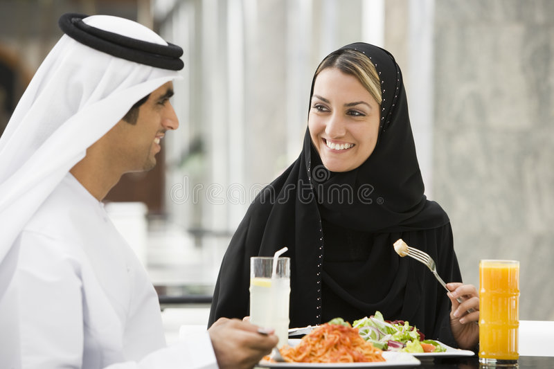 Download Middle Eastern Couple Eating A Meal Stock Photo - Image: 6080034