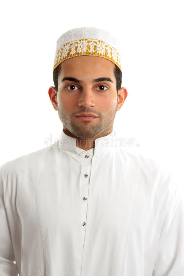 Middle Eastern Man Wearing Cultural Dress Stock Image