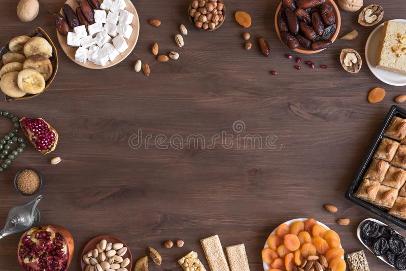 Middle Eastern sweets stock photo