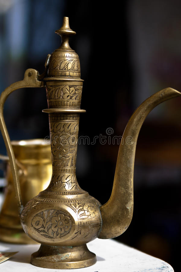 Middle Eastern teapot stock image