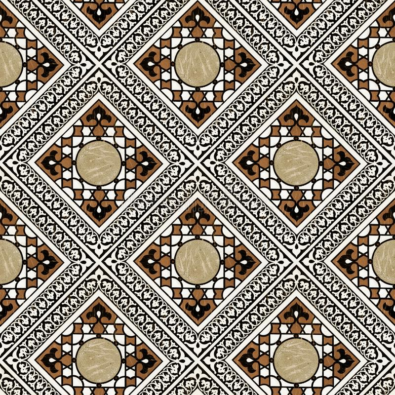 middle eastern tile pattern royalty free stock photo