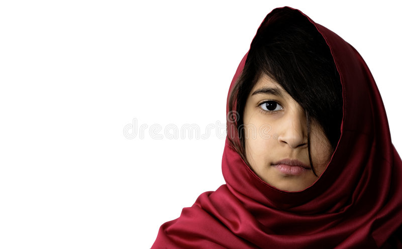 Middle Eatern Girl. A beautiful, young Indian girl stock photos