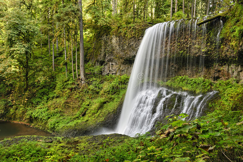 Middle North Falls, Silver Falls State Park royalty free stock image