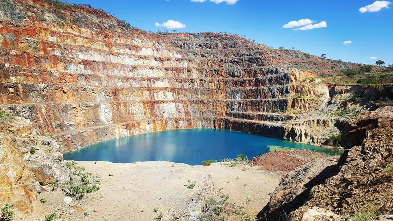Abandoned uranium mine. From the middle of the outback of australia is this abandoned uranium mine stock images